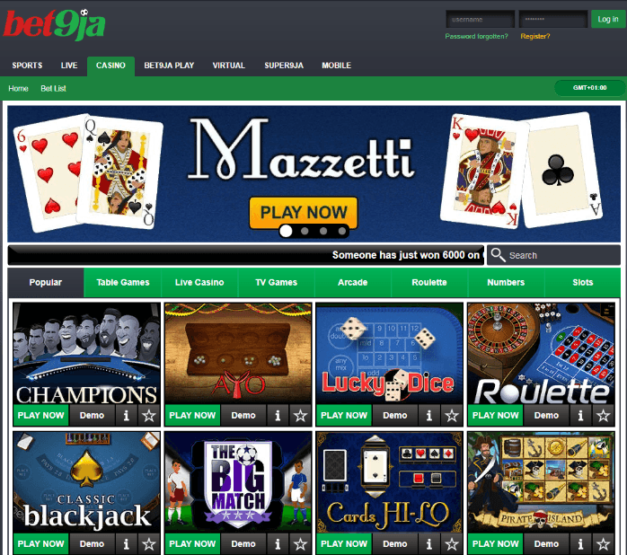 Types Of Casino Games List