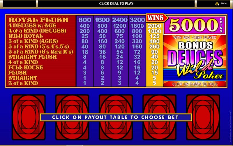 Video Poker Pay - 76056