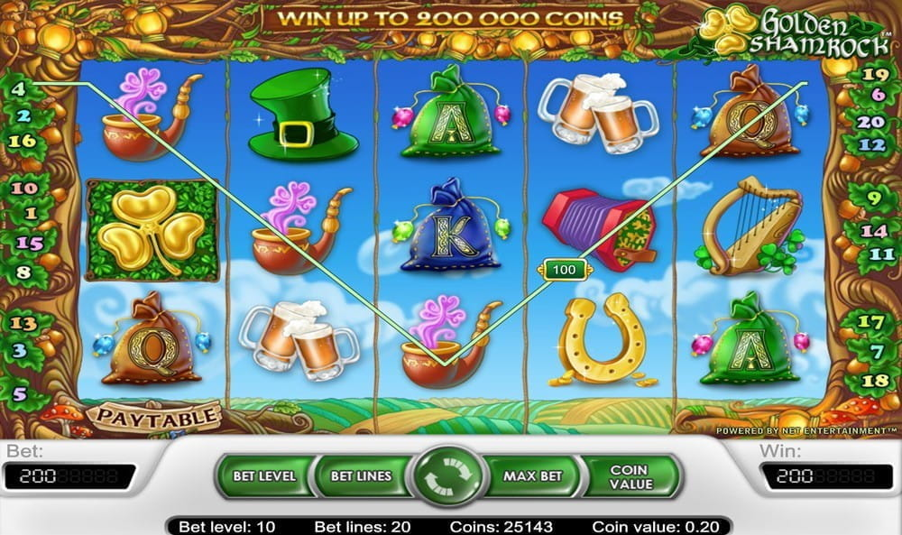 Golden Shamrock Slot - 68523