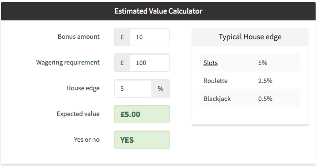 Wagering Requirements Calculator - 74257